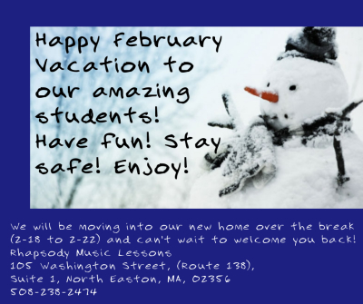 Happy February Vacation! We've got a new home!