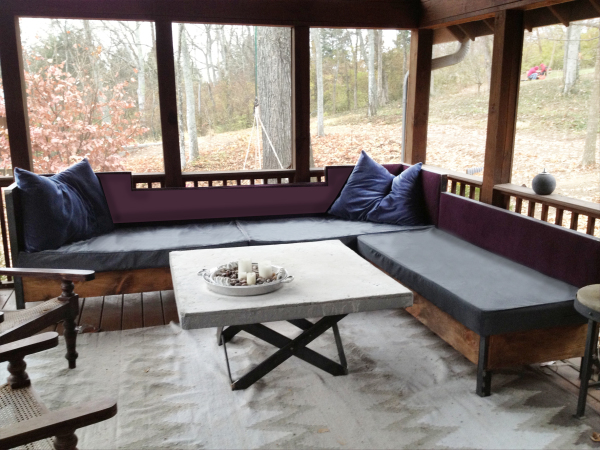 Custom Porch Seating and Table