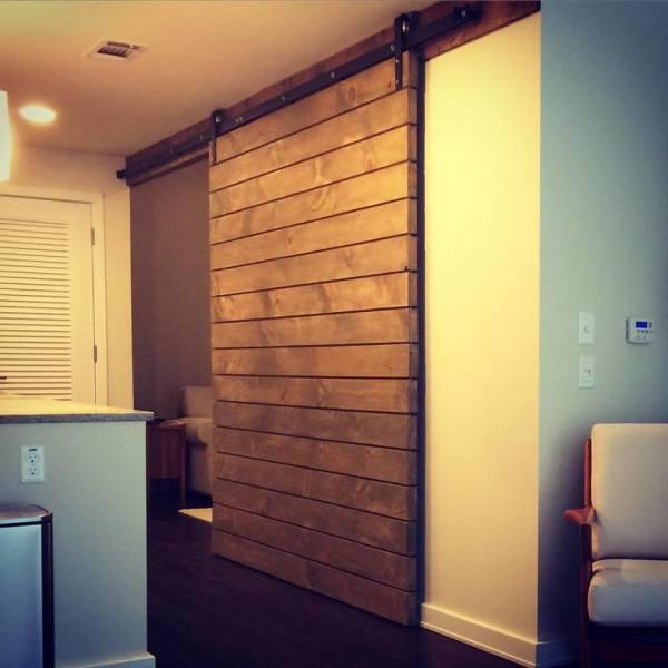 White Oak Sliding Door