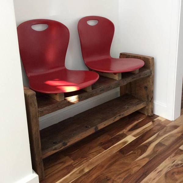 Reclaimed Pine and Plastic