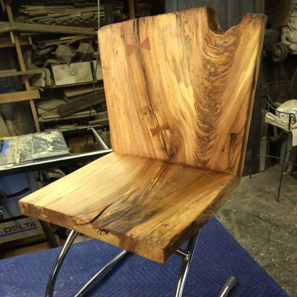 Spalted Pine and Metal