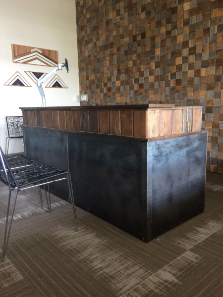 Reclaimed wood and Metal