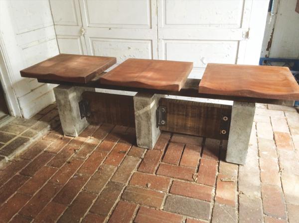 Mahogany and Concrete