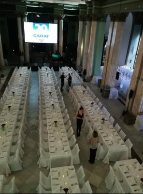 Mesas imperiales en Circulo de Bellas Artes