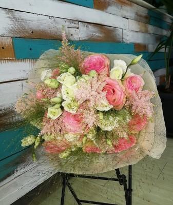 "Ramo ""Elegance"", en tonos rosa"
