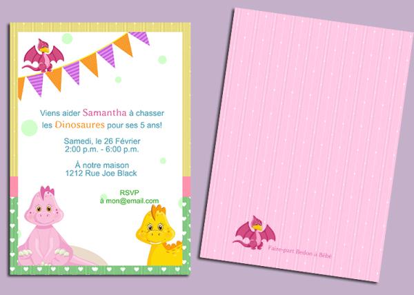 Invitation, fête, anniversaire, digital, birthday, party invitation