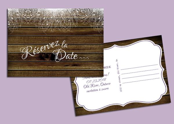 carte, card, réservez la date, save the date
