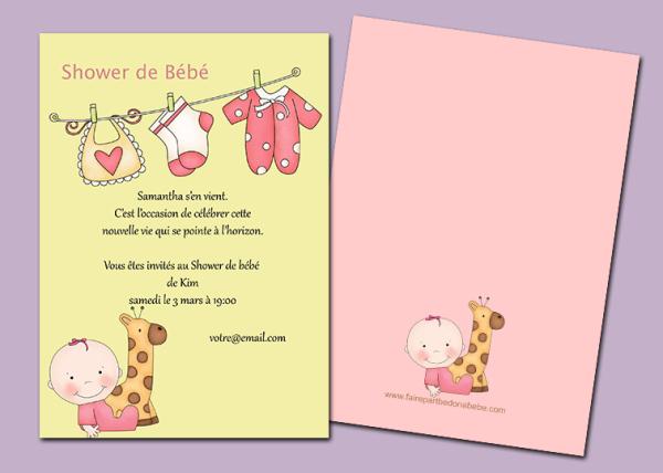 invitation, shower de bébé, baby shower