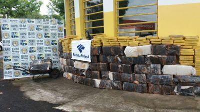 Apreensão de 1.000kg de Maconha em Portão