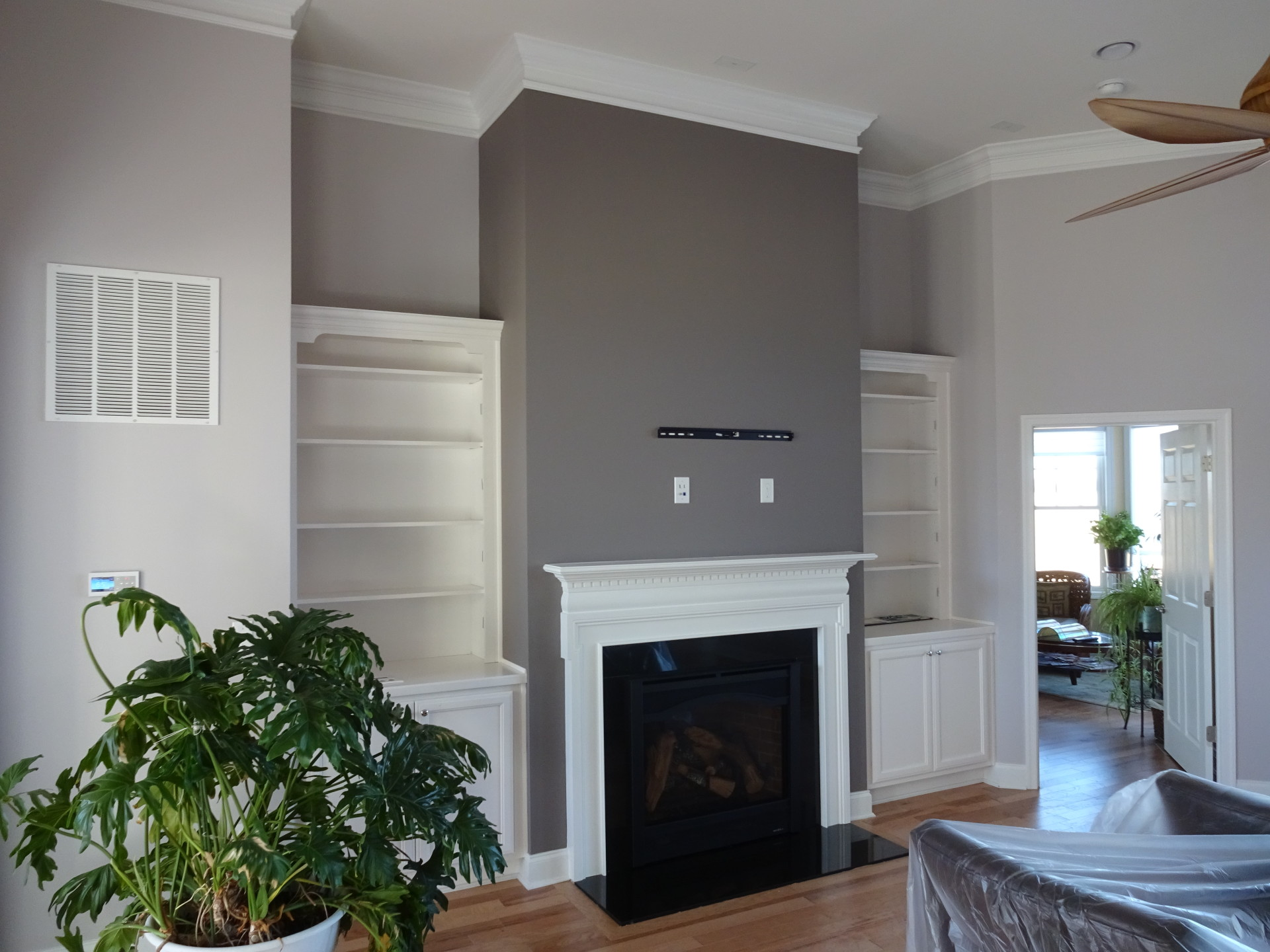 Interior Paint Job Around Fireplace