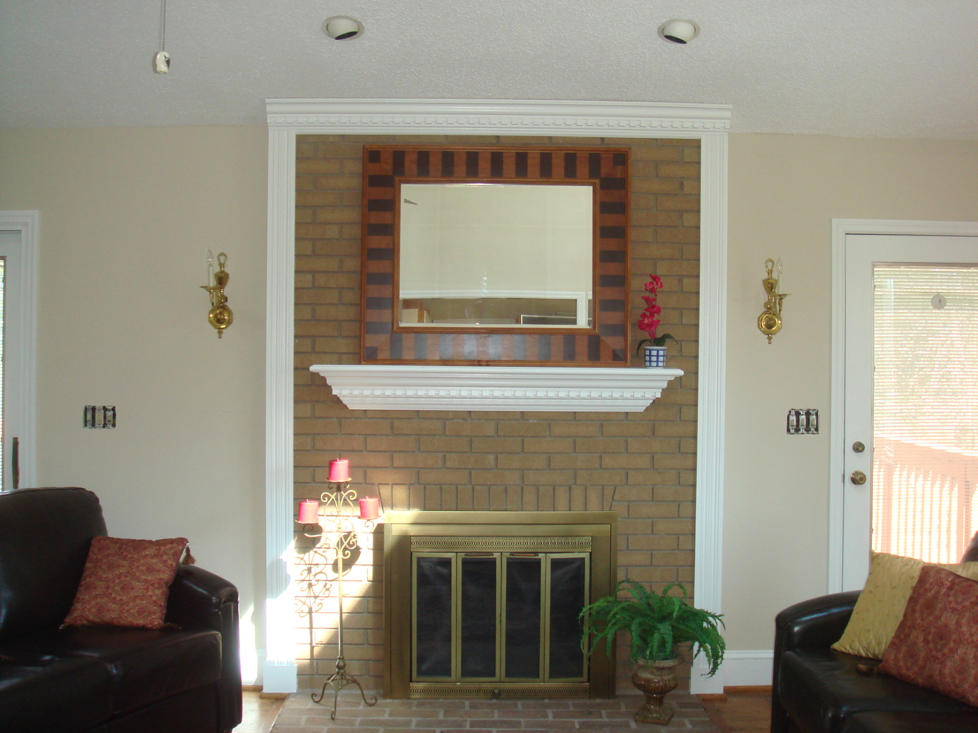 Interior Living Room with Fireplace
