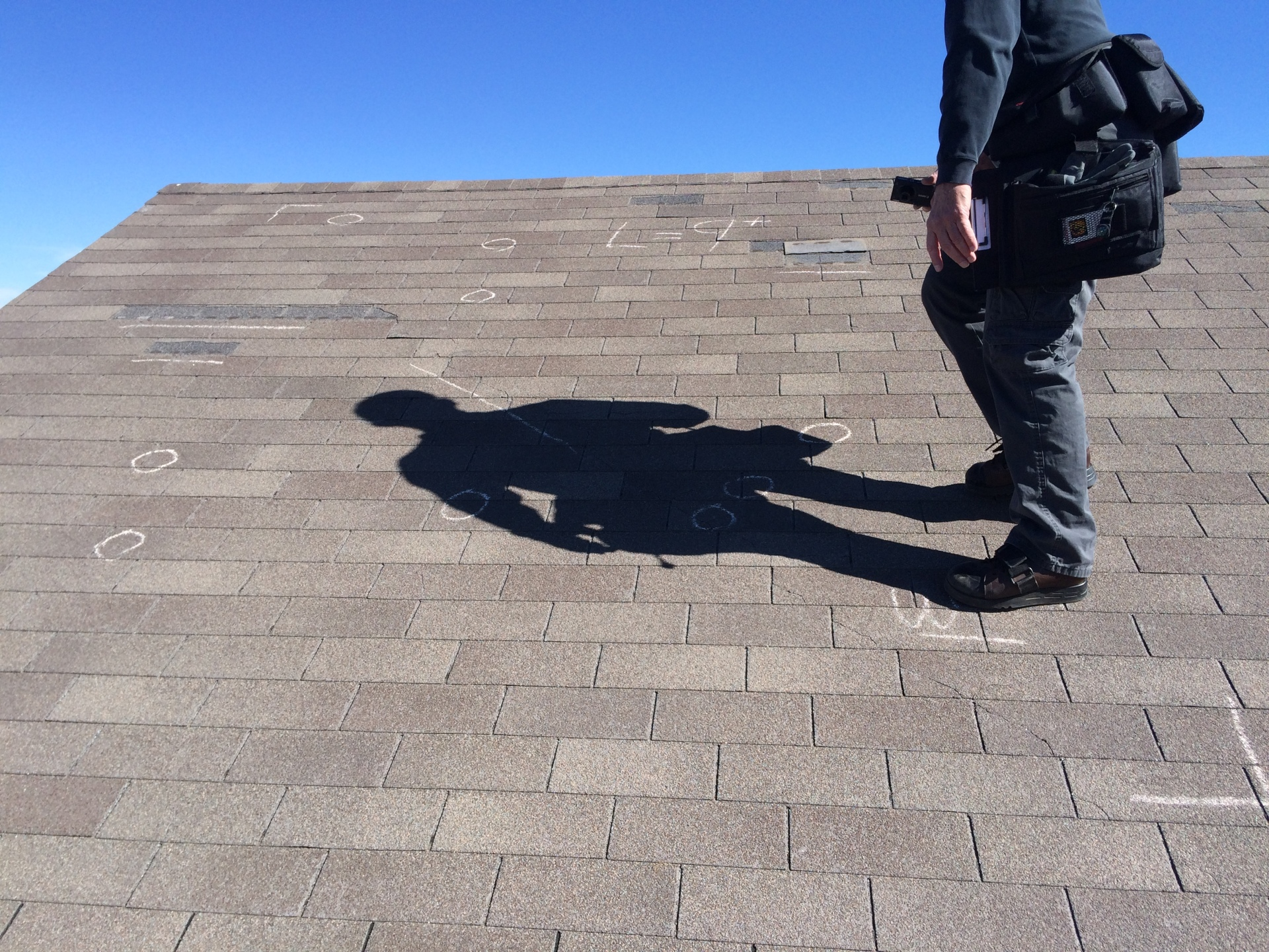 Evaluating wind and hail damage with an insurance adjuster