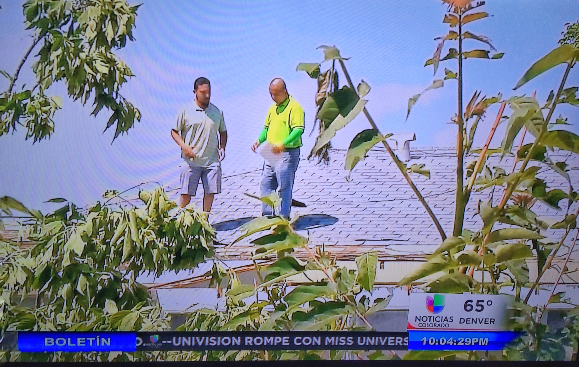 On the news after a sever storm