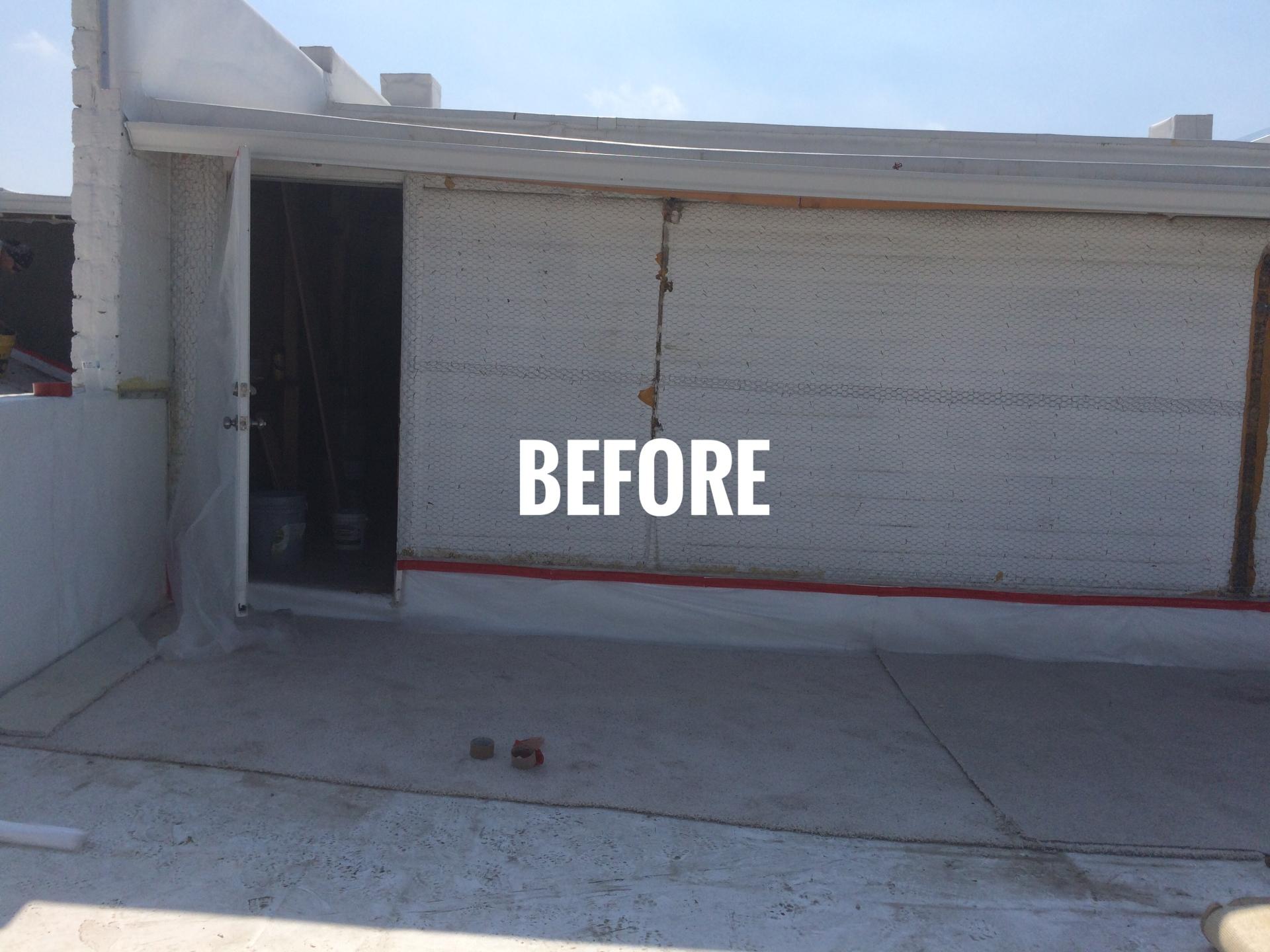 Stucco install prep