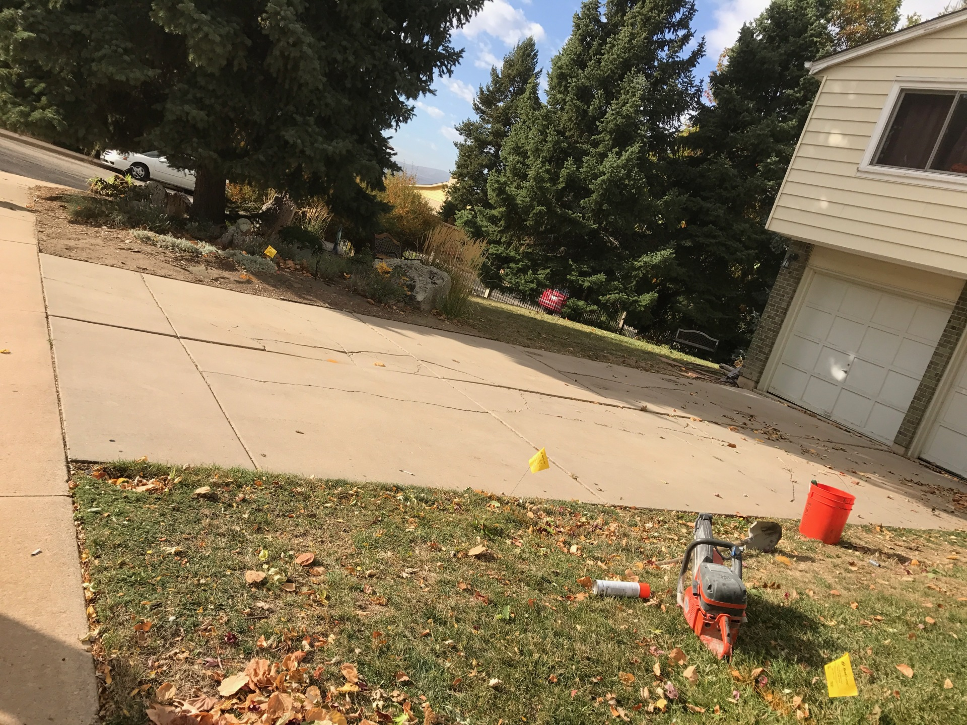 Tear out driveway for a new concrete drive