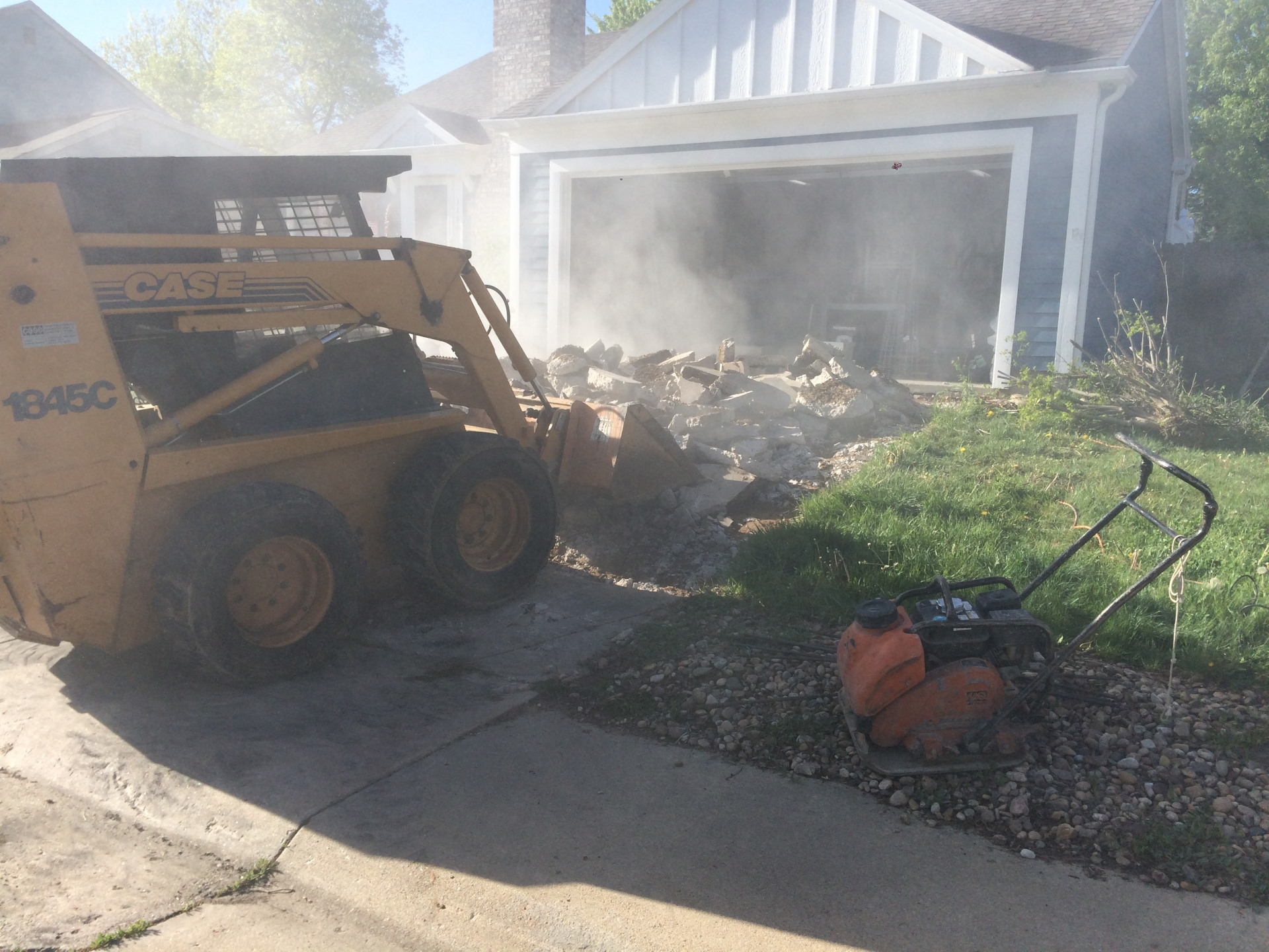 tearing out old drive