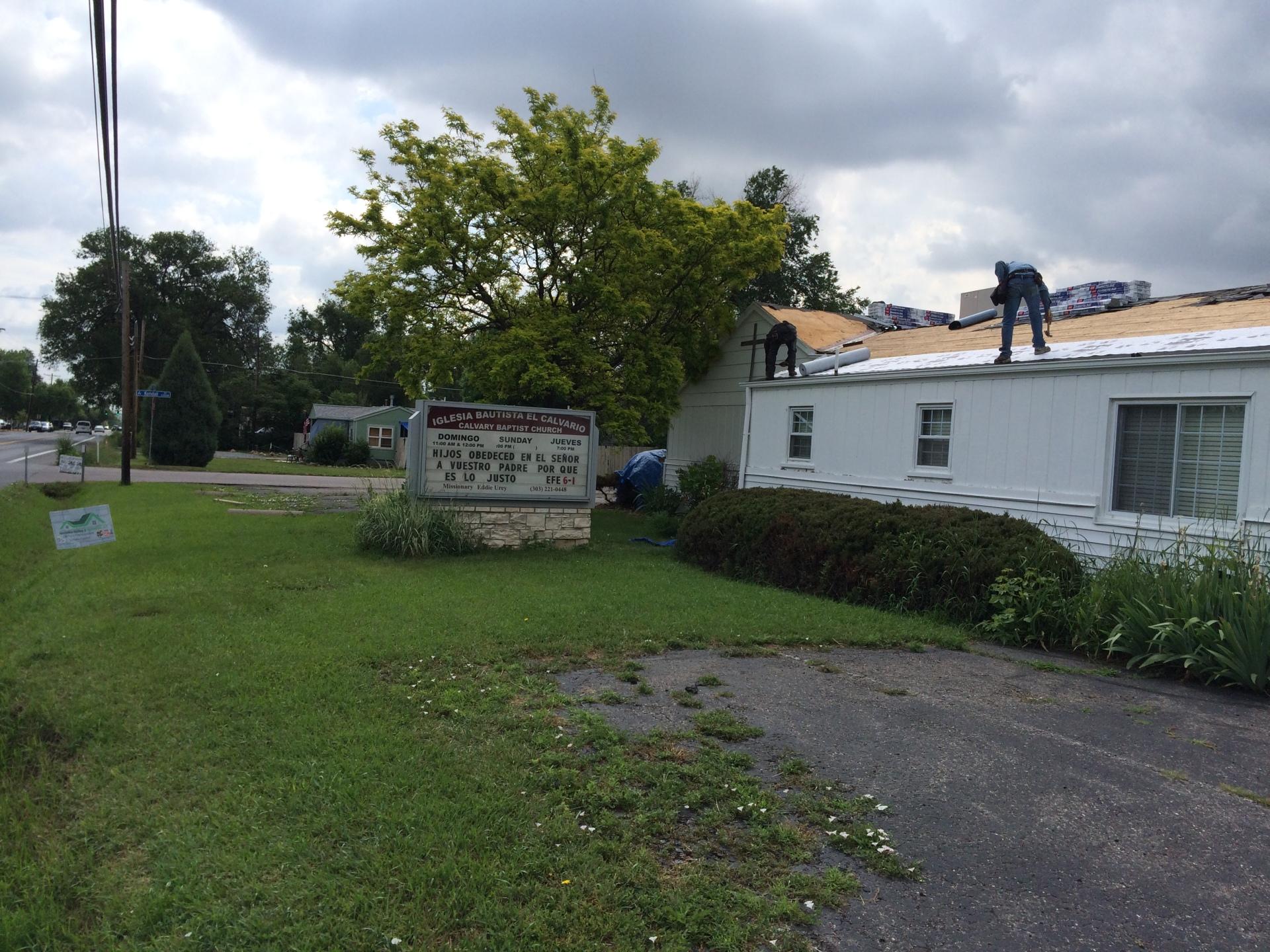 Church Roof tear off