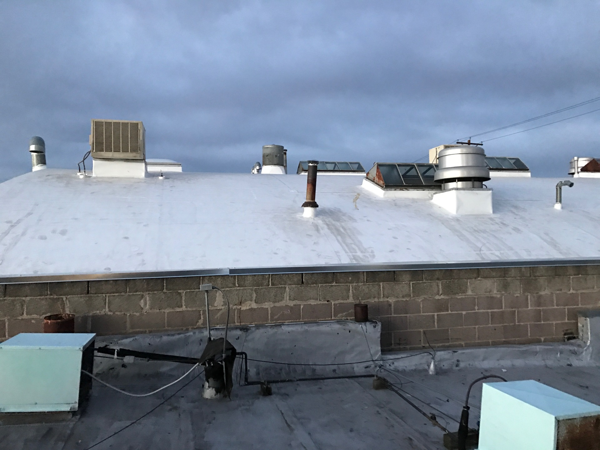 A look at the finish installation of the Retrofit and flashing