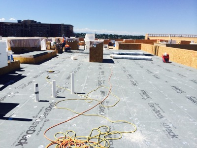 300 squares of flat roof installed for a new construction