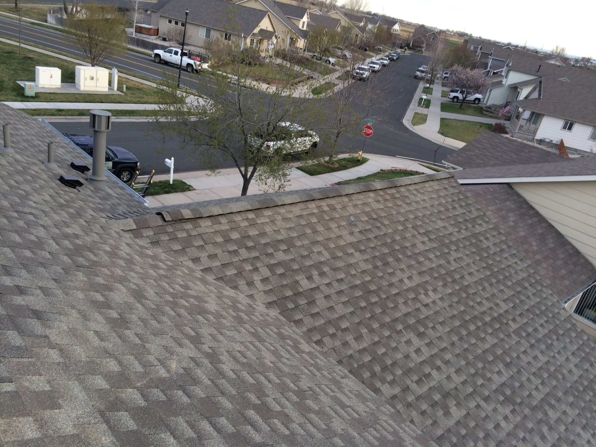 Replaced with GAF architectural shingles
