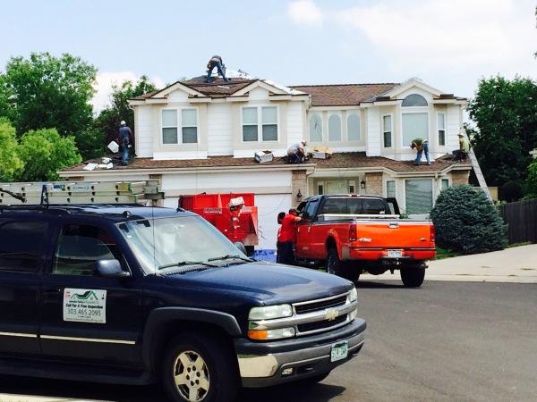 Removing and installing 35 squares of asphalt shingles
