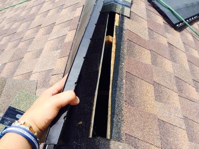 Installing ridge venting system