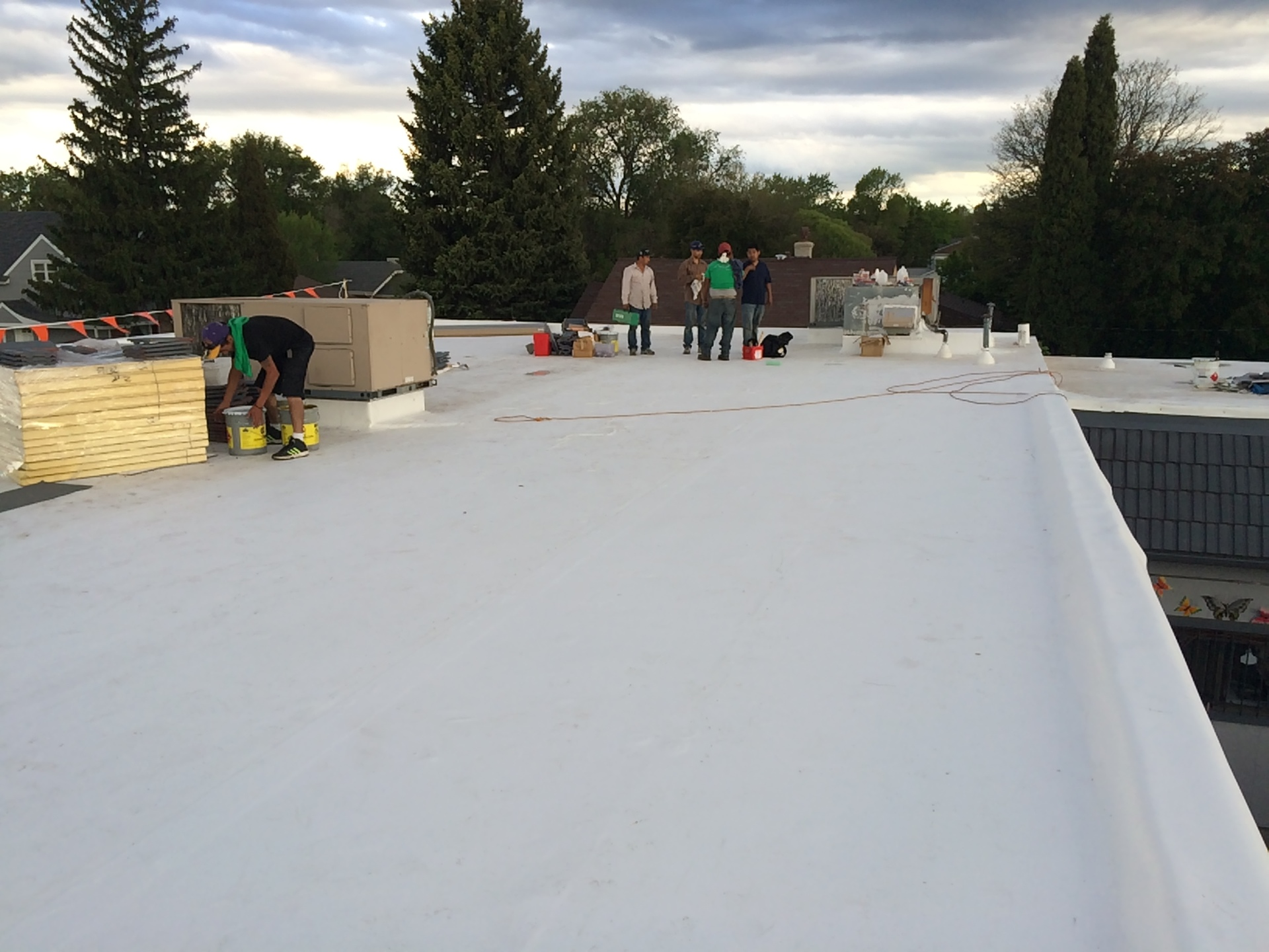 Low slope roof completed
