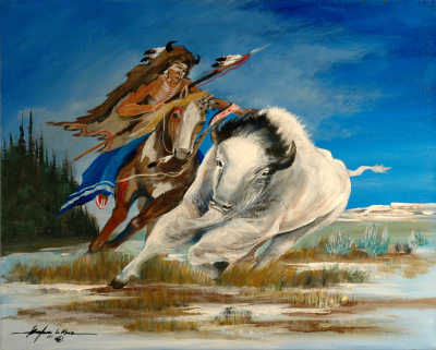 A Warrior's Desire to Catch The Spirit Of The White Buffalo