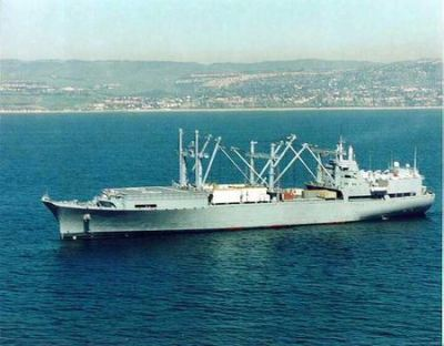 1of 2 Wright Class Aviation Logistics Support container ships, converted for Military Sealift Command