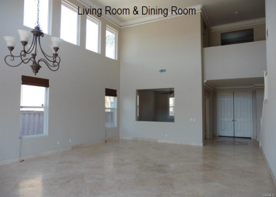 Murrieta Home For Sale - Living Room and DIning Room