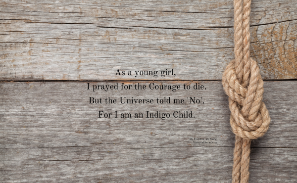 True Courage exists only in living.