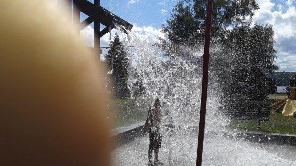 Jeu d'eau et parc d'amusement