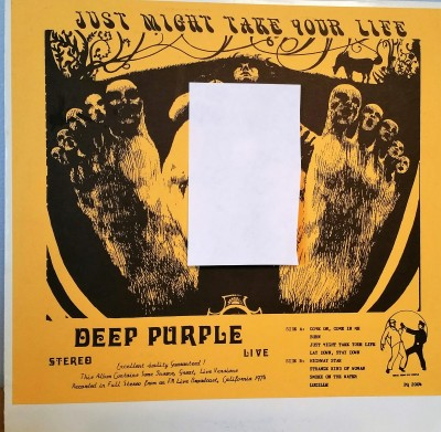 Deep Purple Just Might Take Your Life Bootleg