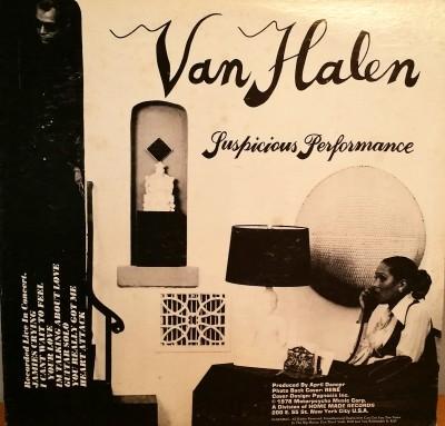 Van Halen Suspicious Performance