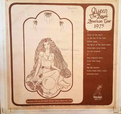 QUEEN - ROYAL AMERICAN TOUR 1975   Wizardo WRMB 307