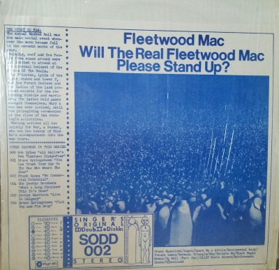 FLEETWOOD MAC  - WILL THE REAL FLEETWOOD MAC PLEASE STAND UP  SODD 002