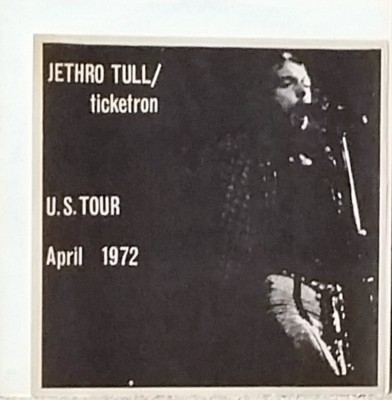 JETHRO TULL - TICKETRON  Contraband Music CBM 3436