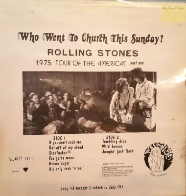 ROLLING STONES -  WHO WENT TO CHURCH THIS SUNDAY?  IMP 1101
