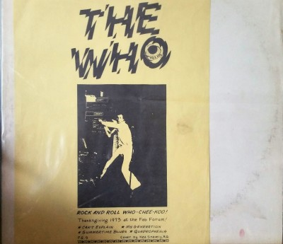 THE WHO   ROCK AND ROLL WHO-CHEE-KOO    Pig's Eye