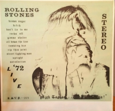 THE ROLLING STONES  MICK TAYLOR WE MISS YOU   RSVP001