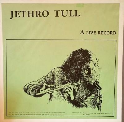 JETHRO TULL  A LIVE RECORD