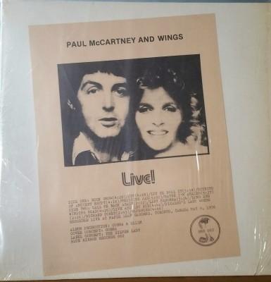 PAUL McCARTNEY & WINGS  LIVE  BRR002