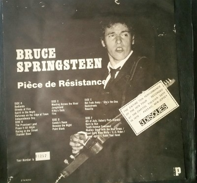 BRUCE SPRINGSTEEN  PIECE DE RESISTANCE   Piste / Slipped Disc