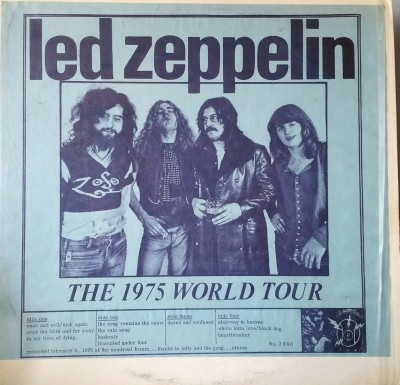 LED ZEPPELIN  THE 1975 WORLD TOUR  TAKRL 2960