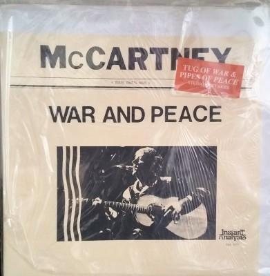 PAUL McCARTNEY  WAR & PEACE  Instant Analysis BRR 015