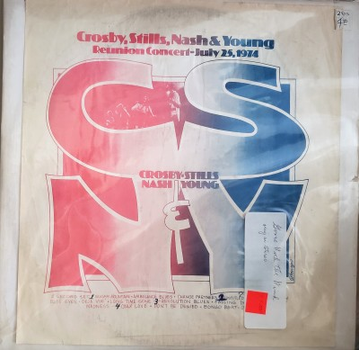 CROSBY STILLS NASH & YOUNG  REUNION CONCERT 7/25/1974  CBM 4040