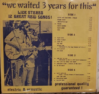 CROSBY STILLS NASH & YOUNG   WE'VE WAITED THREE YEARS FOR THIS  GLC 415