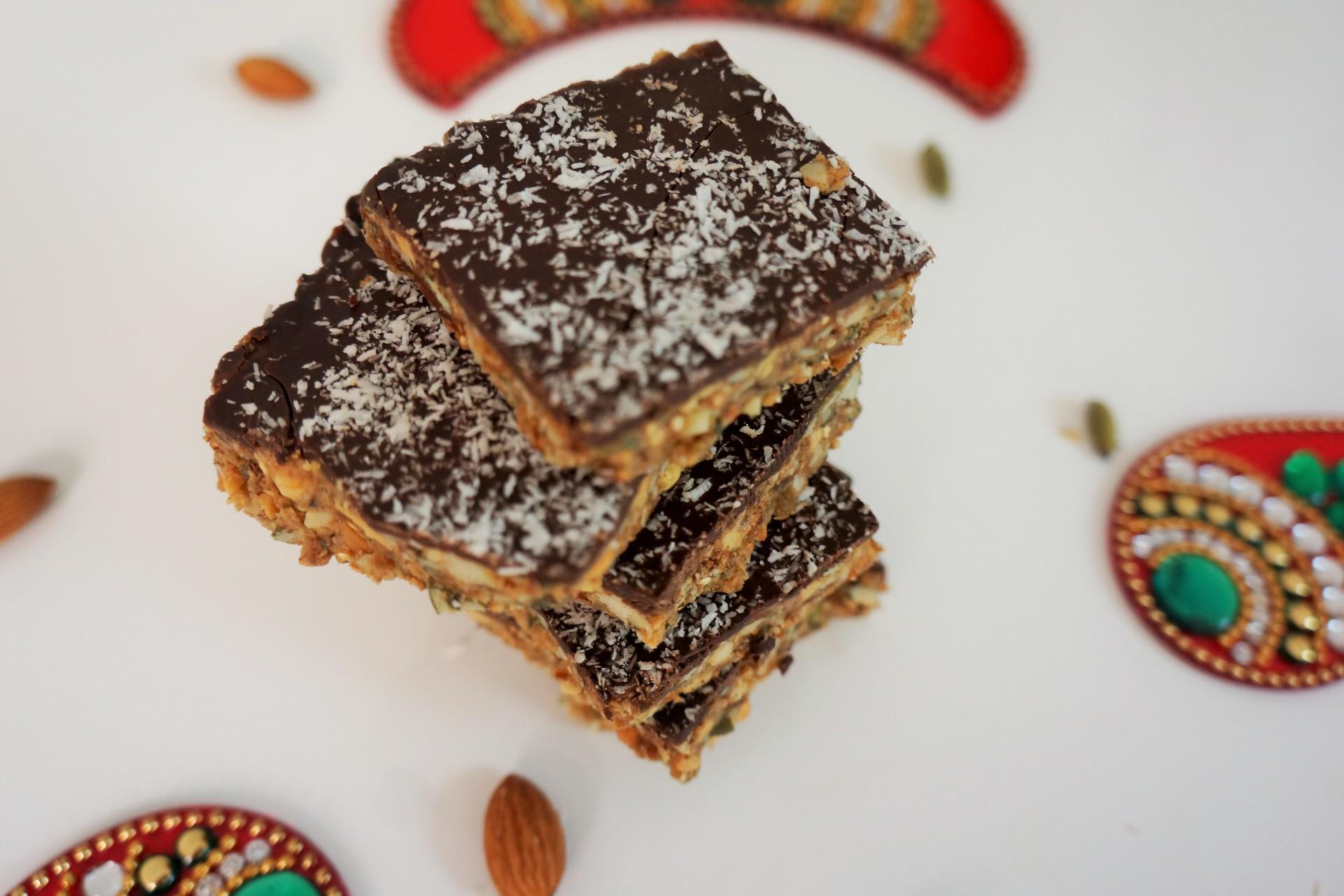 Quinoa Peanutty Chocolate bars