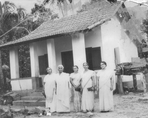 Marthamarium Samajam donated a house to Mrs. Kunjitty During 1972-72. Seen in the photo are, Late Annamma Chedathy, Late Miss.Chinnamma Teacher,Chalil, Mrs.Molly Mathai, Mookancheril and Late Mrs.C.I.Abraham,Chittazhathu
