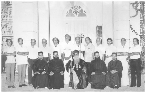 Managing Committee of 1976-77 with H H Moran Mar Beselius Marthoma Mathews I